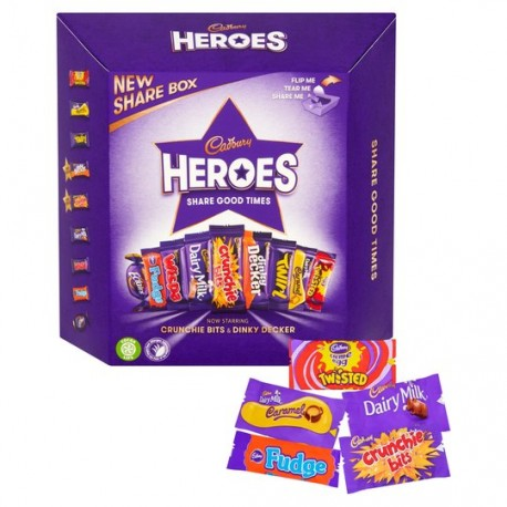 TCH764 CADBURY HEROES BOX PS 385G