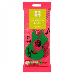TCH786 CO OP STRAWBERRY LACES 65G