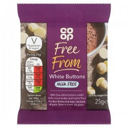 TCH795 CO OP FREE FROM WHITE CHOC BUTTON 25G