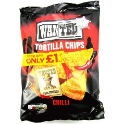 TCH802 WANTED TORTILLA CHILLI 150G