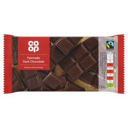 TCH789 CO OP FAIRTRADE DARK CHOCOLATE 135G