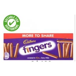 Cadbury Fingers Milk Chocolate 138G