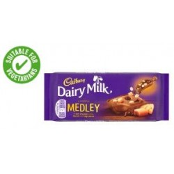 TCH198 Cadbury Dairy Milk Medley Fudge Chocolate Bar 93g
