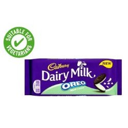 TCH235 Cadbury Dairy Milk With Oreo Mint Chocolate Bar 120g