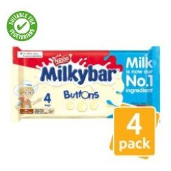 TCH281 Milkybar White Chocolate Buttons 4 Pack 80G