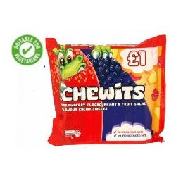 TCH411 Chewits Fruit Mulitipack 4 pack 120g