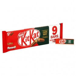 TCH501 NESTLE KITKAT 2 FINGER DARK MINT 9 PACK 186.3G