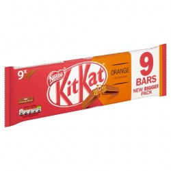 TCH503 NESTLE KITKAT 2 FINGER ORANGE 9 PACK 186.3G