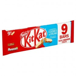 TCH505 NESTLE KITKAT 2 FINGER COOKIES & CREAM 9 PACK 186.3G