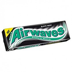 TCH615 WRIGLEY AIRWAVE BLACK MINT 10PCE