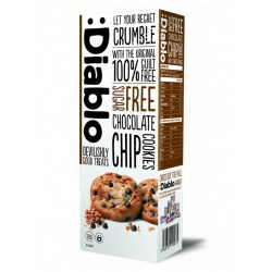 TCH642 DIABLO SUGAR FREE CHOCOLATE CHIP COOKIES 135G