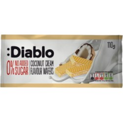 TCH645 DIABLO NO ADDED SUGAR COCONUT FLAVOURED WAFER 110G