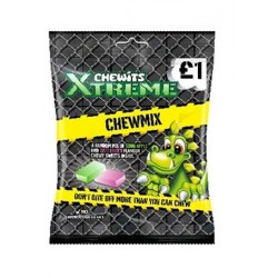 TCH683 CHEWITS XTREME CHEW MIX BAG 125 G