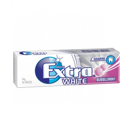 TCH722 WRIGLEY EXTRA WHITE BUBBLEMINT 10PC